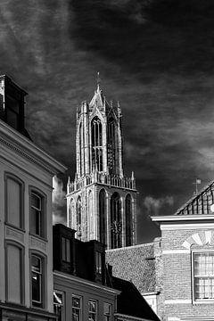 De Domtoren gezien vanaf de Nieuwegracht in Utrecht van De Utrechtse Grachten