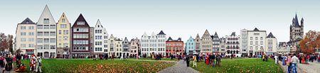 Köln Frankenwerft / Rhein Panorama