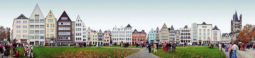 Cologne Frankenwerft / Rhine Panorama van Panorama Streetline