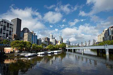 Vue de la rivière Yarra, Melbourne, Victoria, Australie sur Tjeerd Kruse