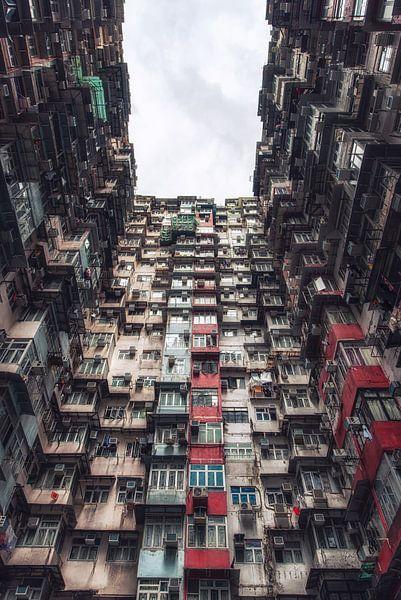 Dicht besiedelte Wohngegend, Apartmentkomplex, Quarry Bay, Hong Kong Island, Hong Kong, China, Asien von Aad Clemens