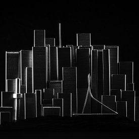 Staple City - Skyline Rotterdam van Marco van den Arend