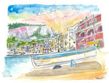 Marina Grande Boots- und Hafenszene auf der Insel Capri Italien von Markus Bleichner