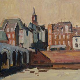 Brücke und Stadt - Maastricht von Nop Briex