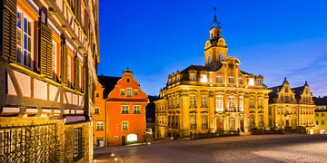 Stadhuis op het marktplein in het Schwäbisch Hall van Werner Dieterich