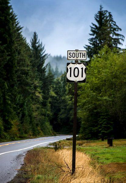 Highway 101 van Fotografie door Menno