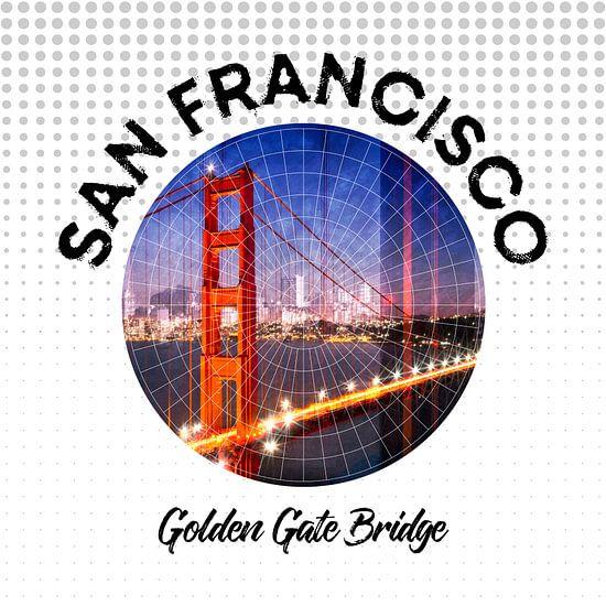 Graphic Art SAN FRANCISCO Golden Gate Bridge
