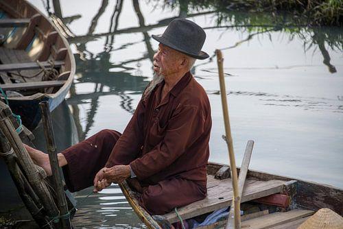 Old man in boat