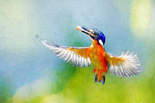 Malteisvogel mit Beute