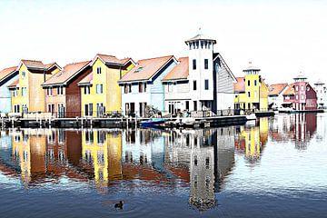 Waterstad Groningen van