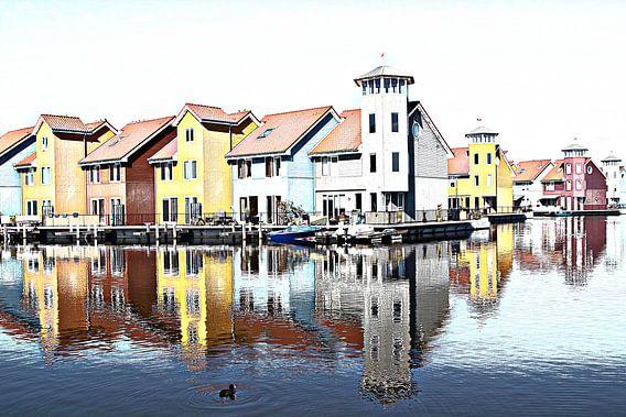 Waterstad Groningen van Yvonne Blokland