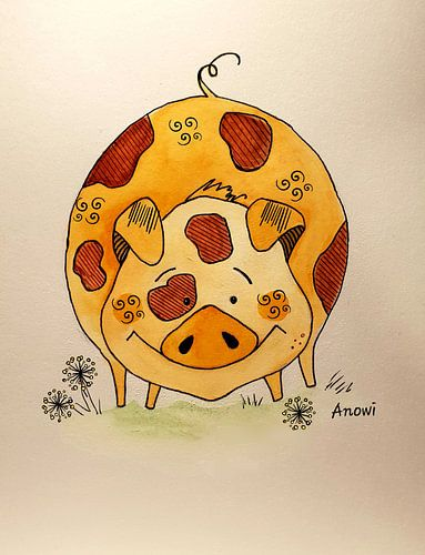 Happy pig van