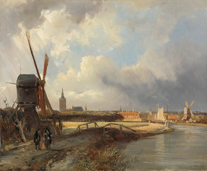 Gezicht op Den Haag, Cornelis Springer van Meesterlijcke Meesters