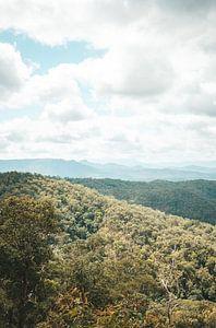 Prachtig uitzicht over bergen in Australië van