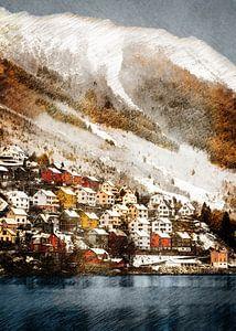 Norwegen Odda Landschaft #Norwegen von JBJart Justyna Jaszke