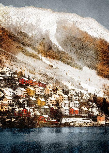 Norvège Odda paysage #Norvège sur JBJart Justyna Jaszke
