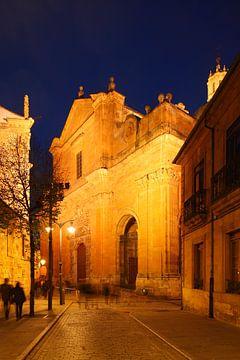 Vieille ville, crépuscule, église, rue, Salamanque, Espagne, Europe sur Torsten Krüger