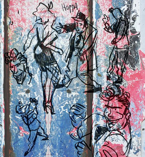 Strip Splinter Goes Urban (Schets DANCE)  van MoArt (Maurice Heuts)