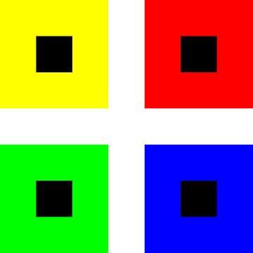 Kleurpermutatie | ID=07 | V=06 | P #01 | DW-RBGY van Gerhard Haberern