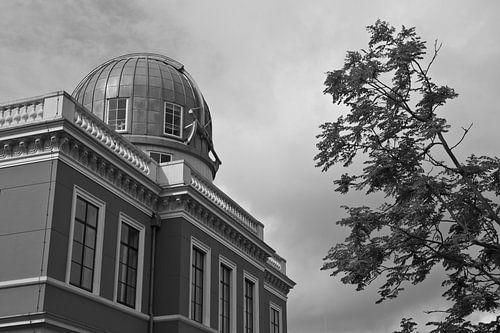 Oude sterrenwacht in Leiden van