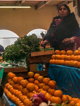 Mexico: Marktkoopvrouw (San Cristóbal de Las Casas) van Maarten Verhees