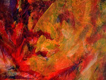 Portret in geel van Anita Snik-Broeken