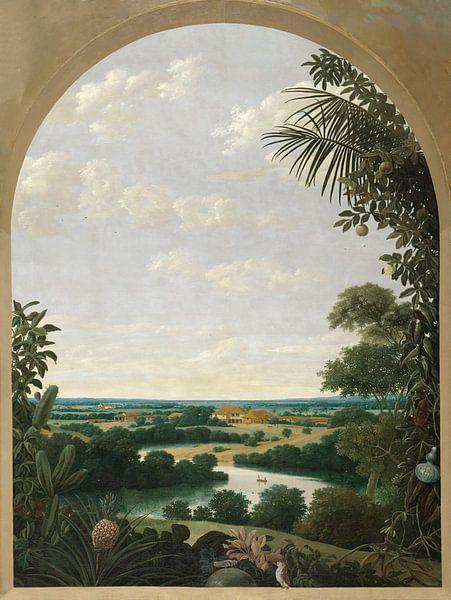 Landschaft in Brasilien, Frans Jansz Post von Meesterlijcke Meesters