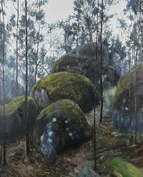 Erde und Natur Dreigestein von KB Prints