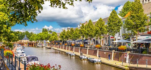 Panorama haven Breda in de zomer