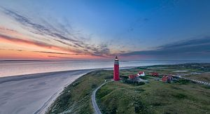 Vuurtoren Eierland Texel - vlak voor zonsopkomst