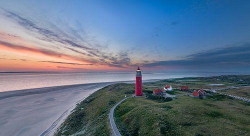Vuurtoren Eierland Texel - vlak voor zonsopkomst sur