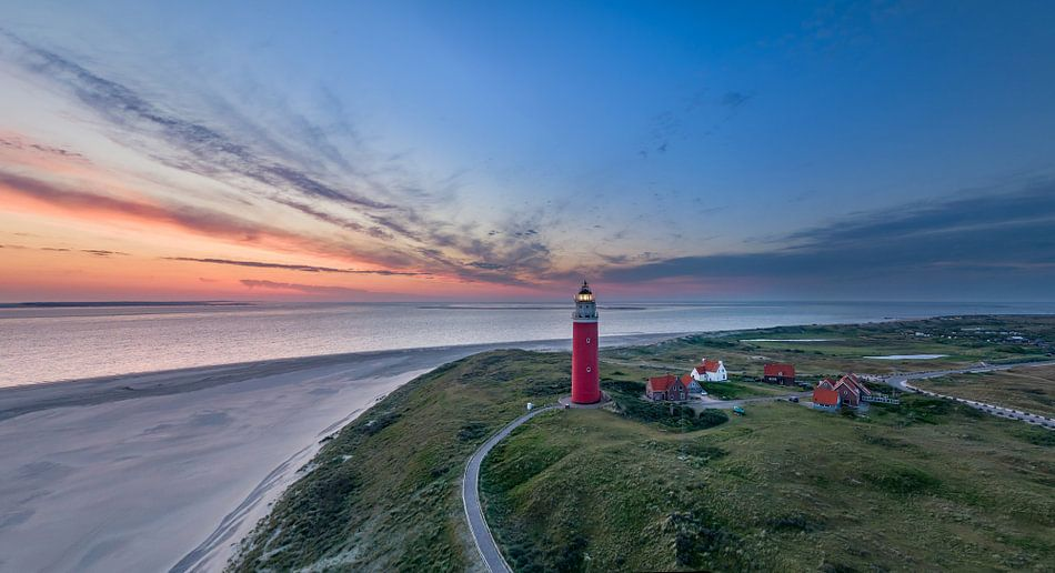 Vuurtoren Eierland Texel - vlak voor zonsopkomst van Texel360Fotografie Richard Heerschap