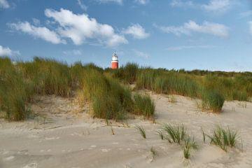 Eierland Leuchtturm in den Dünen von Ad Jekel
