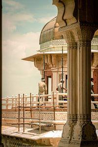 Restaurierung eines indischen Forts