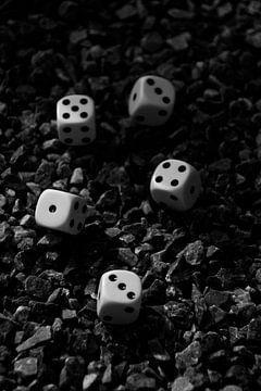 Dobbelstenen (zwart-wit) von Jolien Luyten