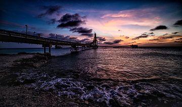 Sonnenuntergang Cargill Salzfabrik - Bonaire - Niederländische Antillen von Studio de Waay