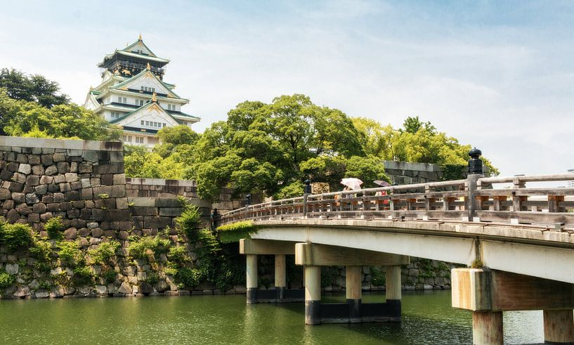 Osaka Castle in Japan van Claudio Duarte
