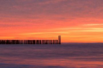Orange Sky van Zeeland op Foto