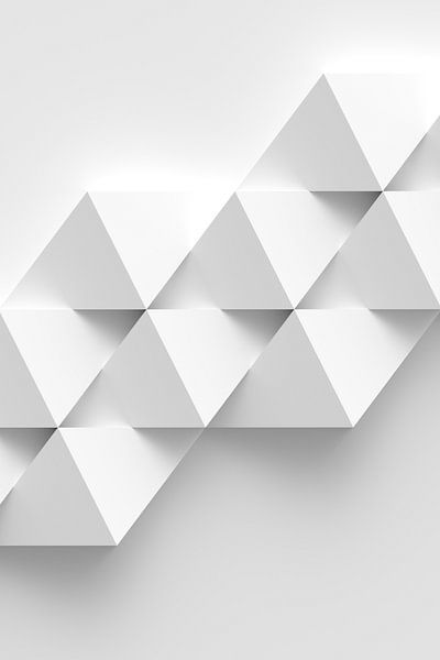 White Rhombs van Jörg Hausmann