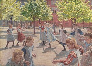 Spielende Kinder, Peter Marius Hansen
