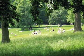 Zondagmiddag in Waterlow Park van Helga Novelli