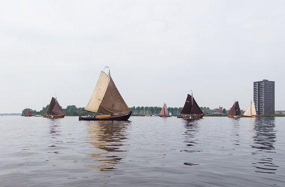 Botters op het weerwater voor Almere