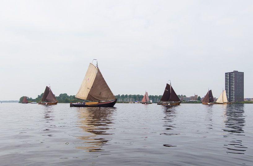 Botters op het weerwater voor Almere van Brian Morgan