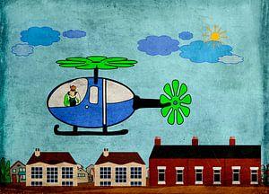 Kinderzimmerbild  -  Hubschrauber