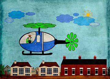 Kinderzimmerbild  -  Hubschrauber von Rosi Lorz