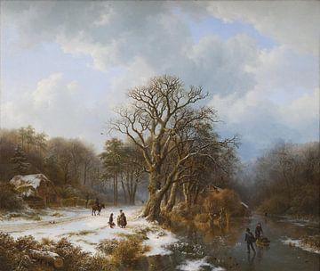 Winterlandschaft, Barend Cornelis Koekkoek