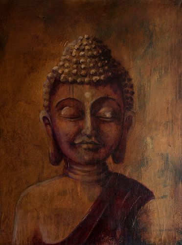 painted buddha 2 von paul hoebee