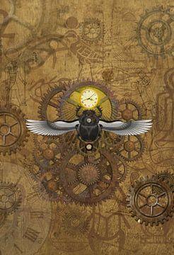 Egyptische Steampunk Scarabee van Lucia