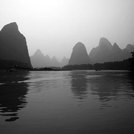 River Li bij Yangshuo  van Gert-Jan Siesling