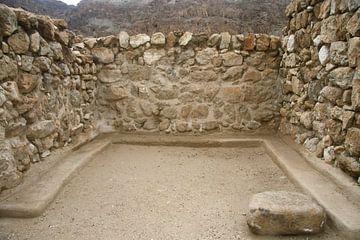 Ruines du palais d'hiver du roi Hérode à Jéricho, fragments de briques et de colonnes sur Michael Semenov